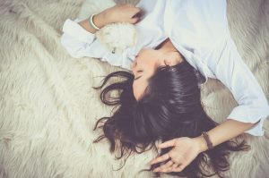 girl, sleep, female