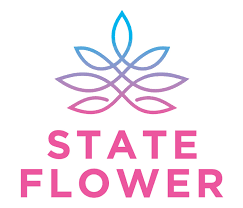 State Flower Logo Cannabis Weed Brand