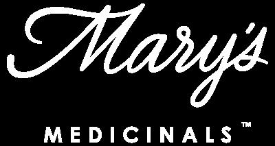 Marys Medicinals Logo White No BG Cannabis Brand